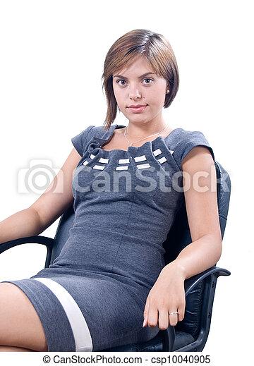 neki, nő, fiatal, hivatal - csp10040905