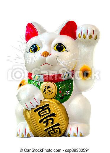 Gato afortunado maneki neko - csp39380591