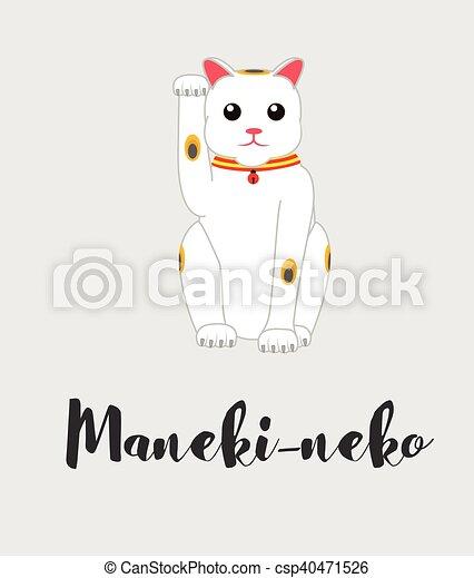 Neko Maneki Statue Chat