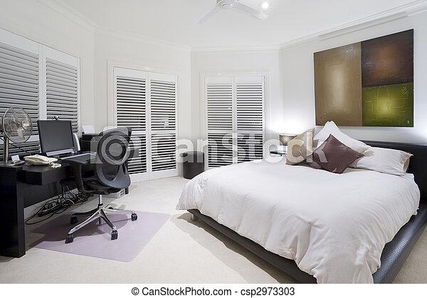 nemesi kúria, kímél, fényűzés, hivatal, hálószoba - csp2973303