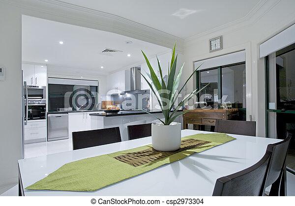 nemesi kúria, modern, fényűzés, konyha - csp2973304