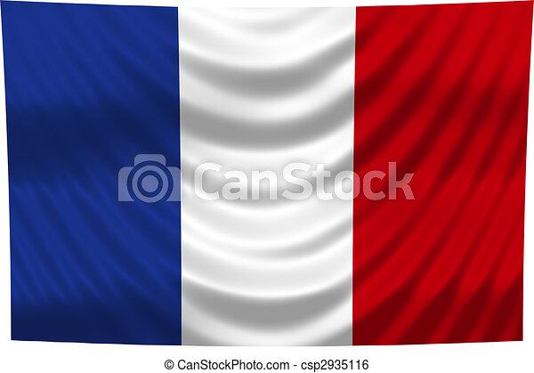 nemzeti lobogó, franciaország - csp2935116