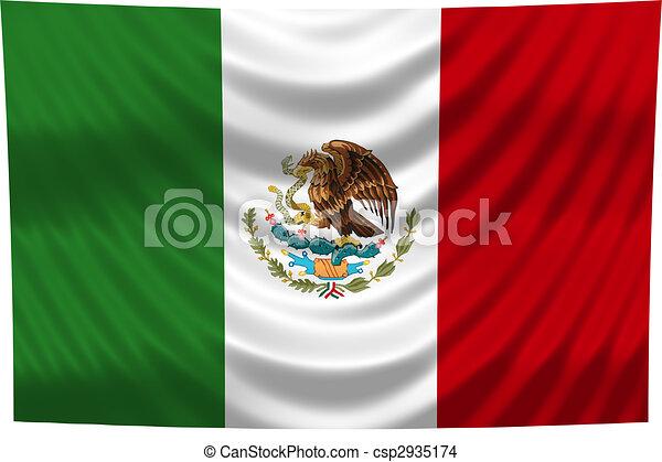 nemzeti lobogó, mexikó - csp2935174