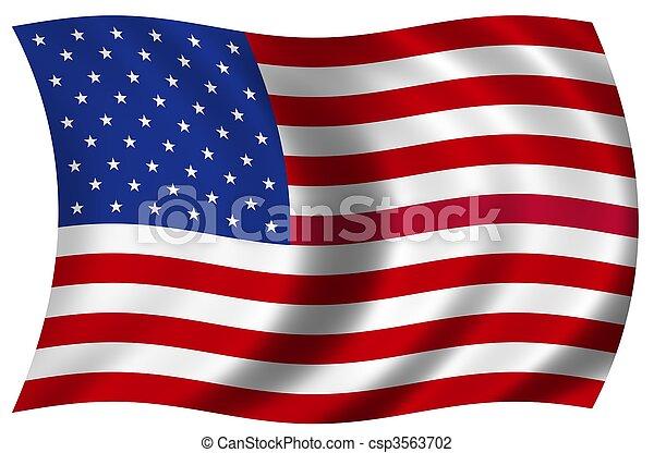 nemzeti lobogó, usa - csp3563702