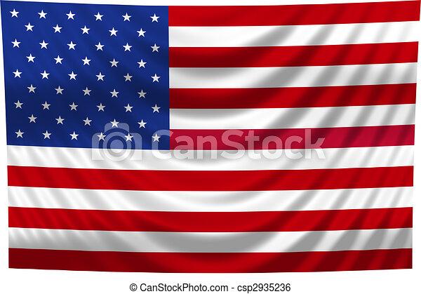 nemzeti lobogó, usa - csp2935236