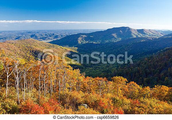 nemzeti park, shenandoah - csp6659826