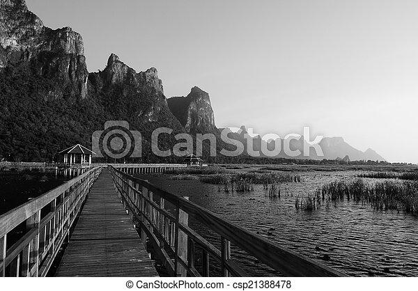 nemzeti, tó, liget, bridzs - csp21388478