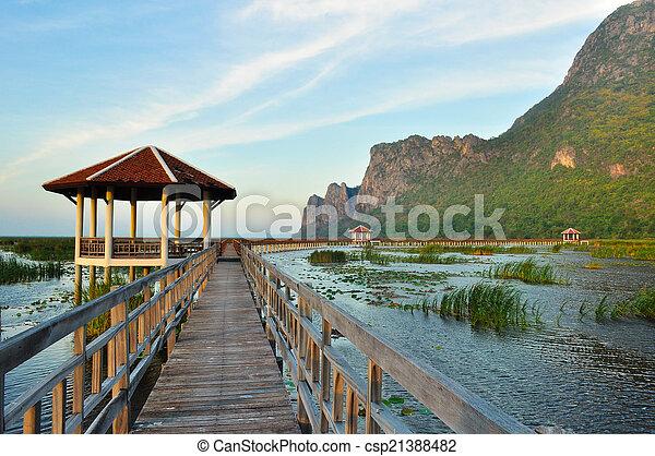 nemzeti, tó, liget, bridzs - csp21388482