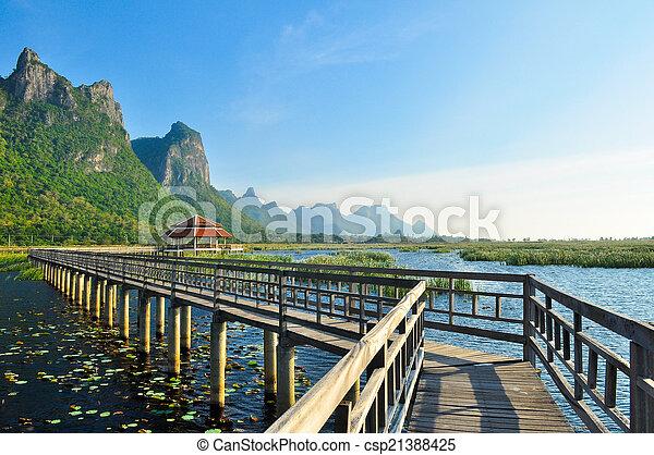 nemzeti, tó, liget, bridzs - csp21388425