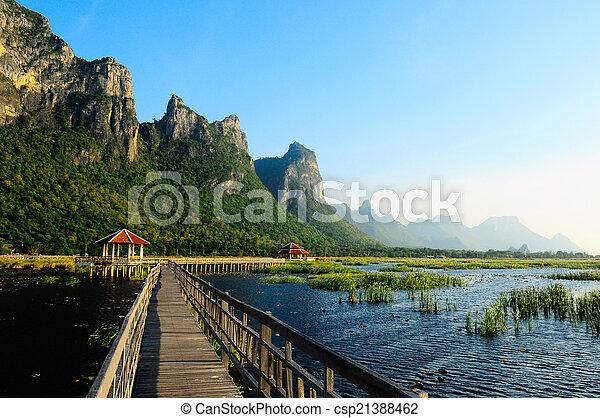 nemzeti, tó, liget, bridzs - csp21388462