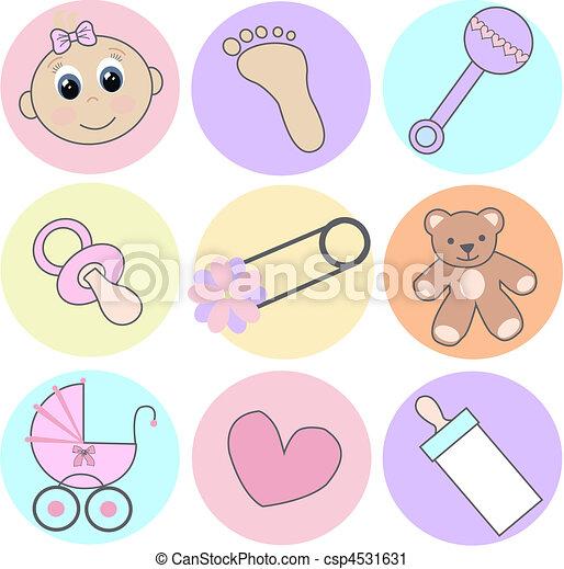Nena Iconos Bebé Diferente Nueve Niña Iconos