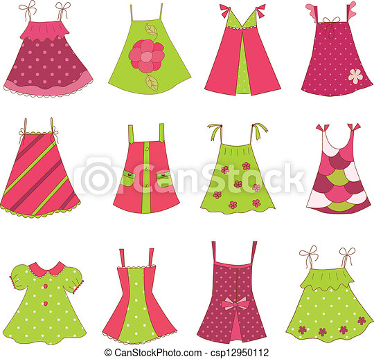 nena, vestido, colección - csp12950112