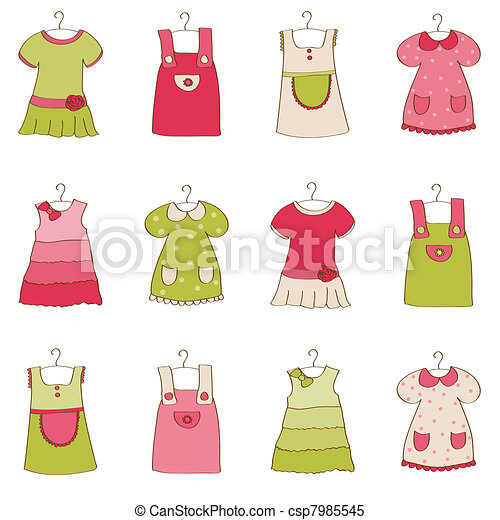 nena, vestido, colección - csp7985545