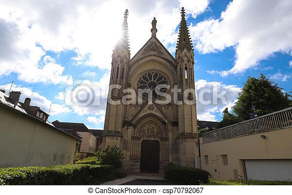 Neo Gothic Chapel of Saint-Joseph in Beauvais, France - csp70792067
