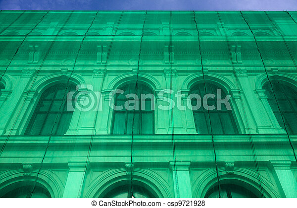 Neoclassical building renovation - csp9721928
