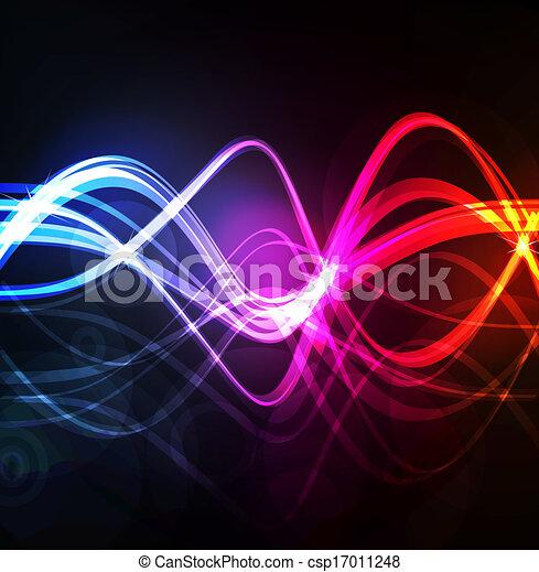 Neon abstract design on dark background vector - csp17011248