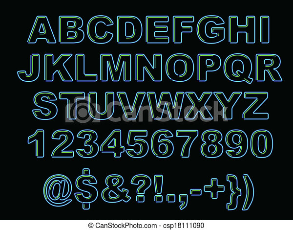 Vector bold emboss font alphabet stock vector  shutterstock