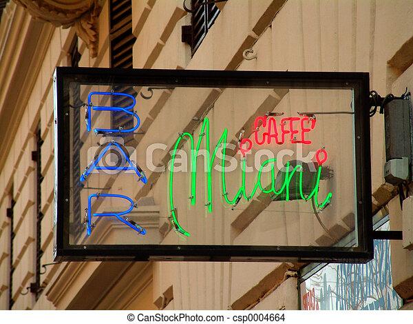 Neon Cafe sign - csp0004664