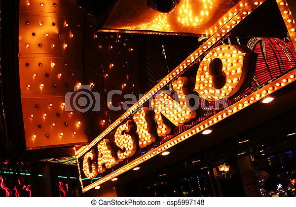 Neon casino sign. Las Vegas, Nevada, USA. - csp5997148