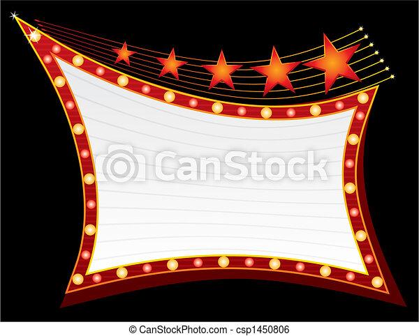 neon, csillaggal díszít - csp1450806