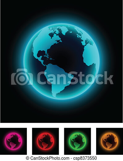 Neon earth. - csp8373550