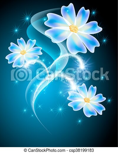 neon flowers with stars and firework neon flowers with shiny stars
