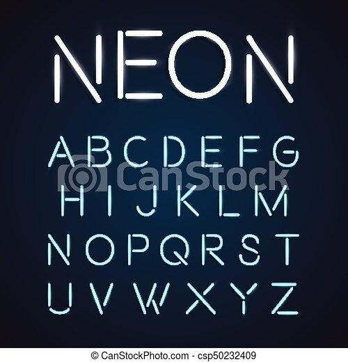 neon font city text night alphabet vector illustration