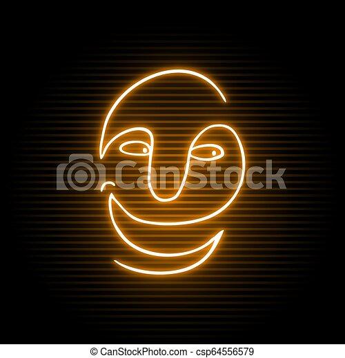 neon happy face - csp64556579