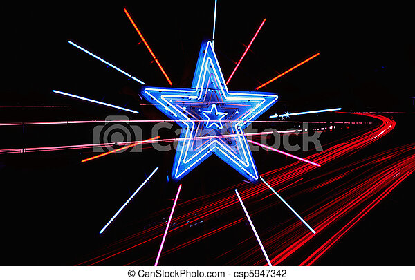 Neon Highway Star - csp5947342