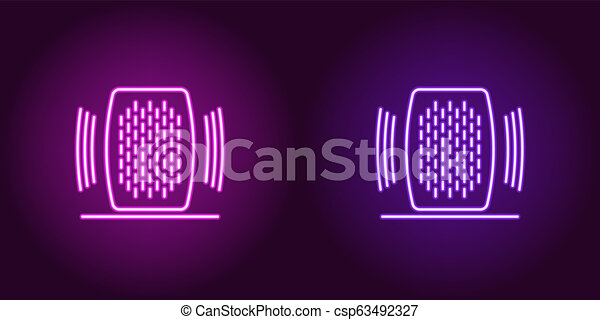 Neon Home speaker, glowing sign  Voice assistant