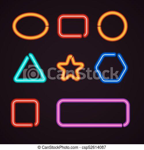 Neon light borders - csp52614087