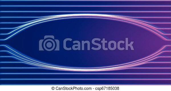 Neon lines background with glowing 80s new retro synthwave style