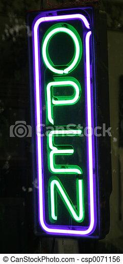 neon openen voorteken - csp0071156