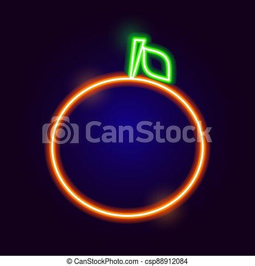 Neon Orange Icon - csp88912084