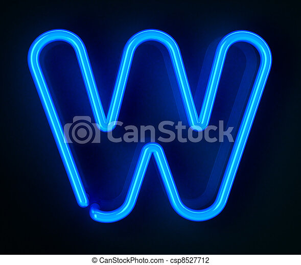 Neon Sign Letter W - csp8527712