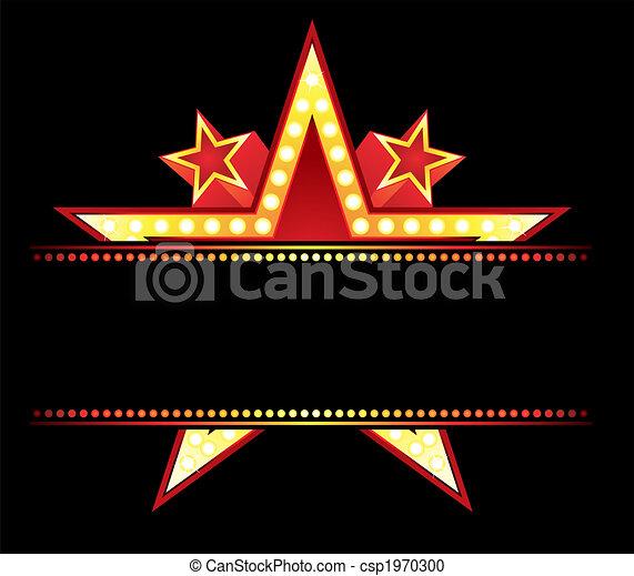 neon, stjärna - csp1970300