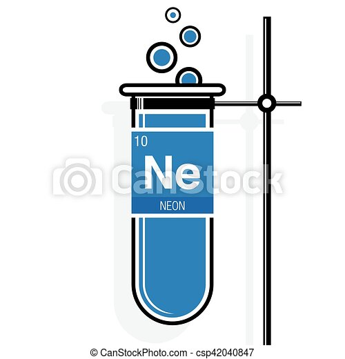 Neon symbol on label in a blue test tube with holder eps vector neon symbol on label in a blue test tube with holder element number 10 of urtaz Gallery