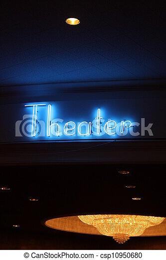 Neon Theater Sign - csp10950680