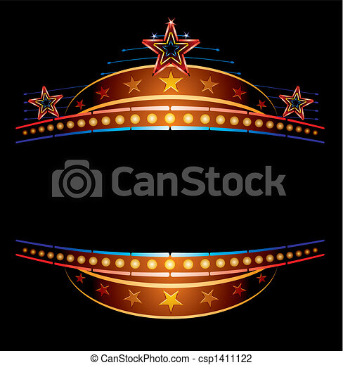 Neon with stars - csp1411122