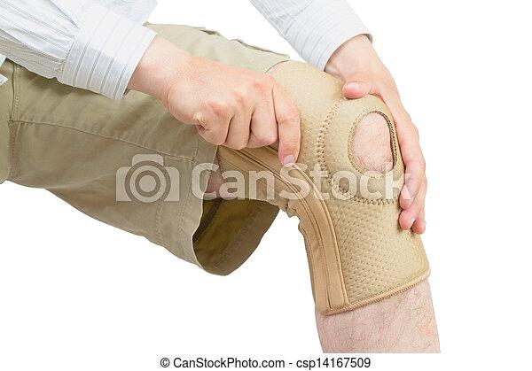 Neoprene knee brace. - csp14167509