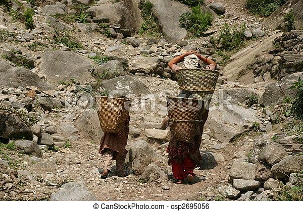 Nepal Porters - csp2695056