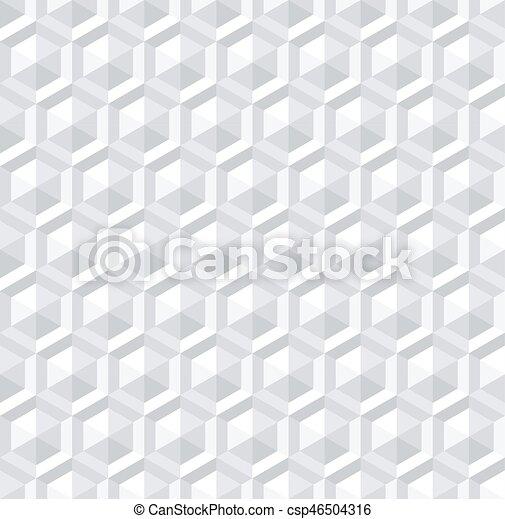 neposkvrněný, 3, pattern., seamless, šestiúhelník - csp46504316