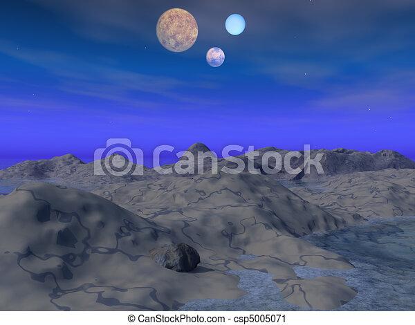 Neptune landscape - csp5005071