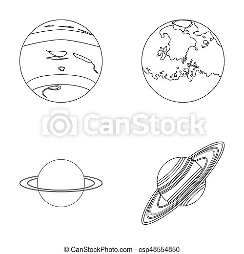 saturn outline free
