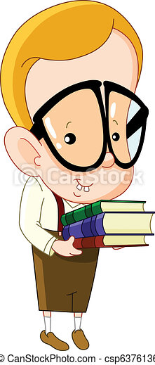 nerd, 子供 - csp6376136