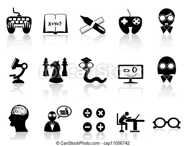nerds icon set - csp11056742