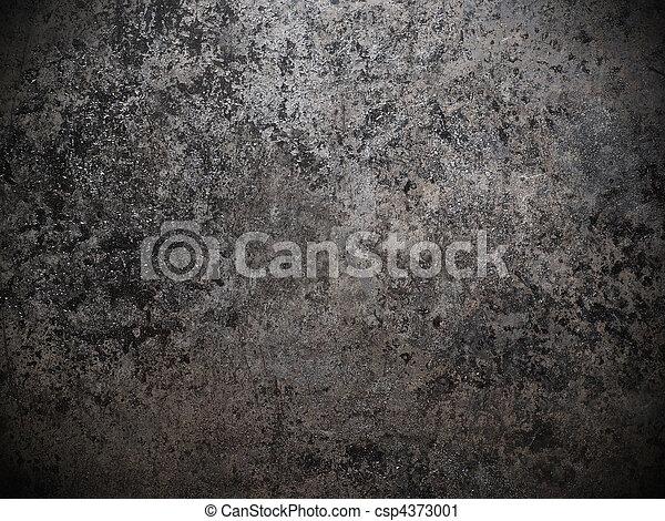 nero, bianco, metallo, sporco, fondo - csp4373001