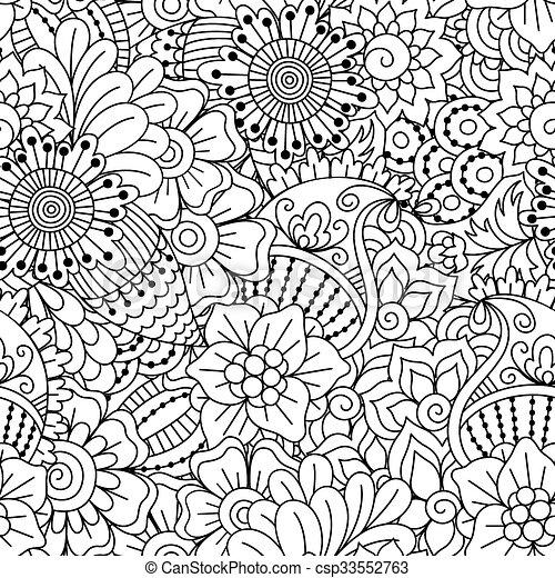 nero, bianco, pattern., seamless - csp33552763