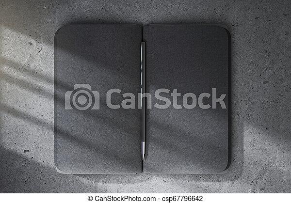 nero, blocco note, vuoto - csp67796642