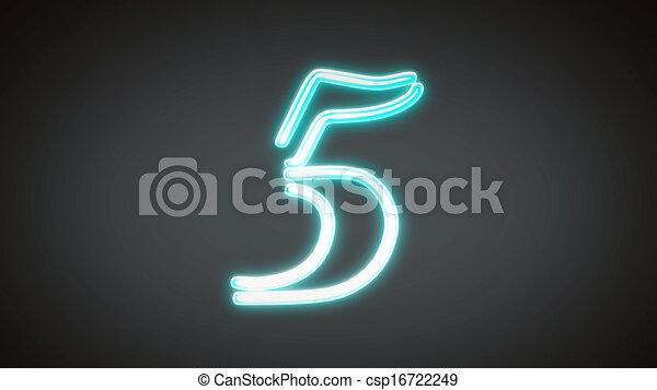 nero countdown number grey5 - csp16722249